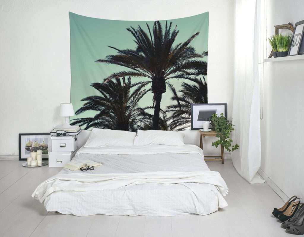 Palm Trees Wall Decor Awesome Tree Tapestry Tropical Art Bedroom