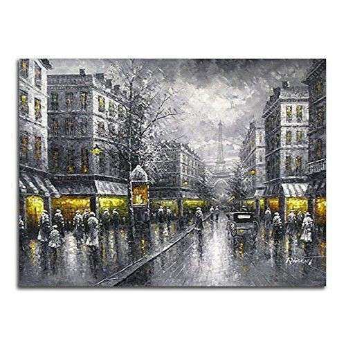 Paris Street Painting Reproduction Canvas Print Wall