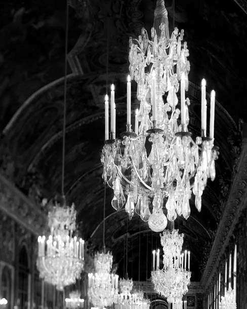 Chandelier Wall Art Paris Decor Black and White graphy