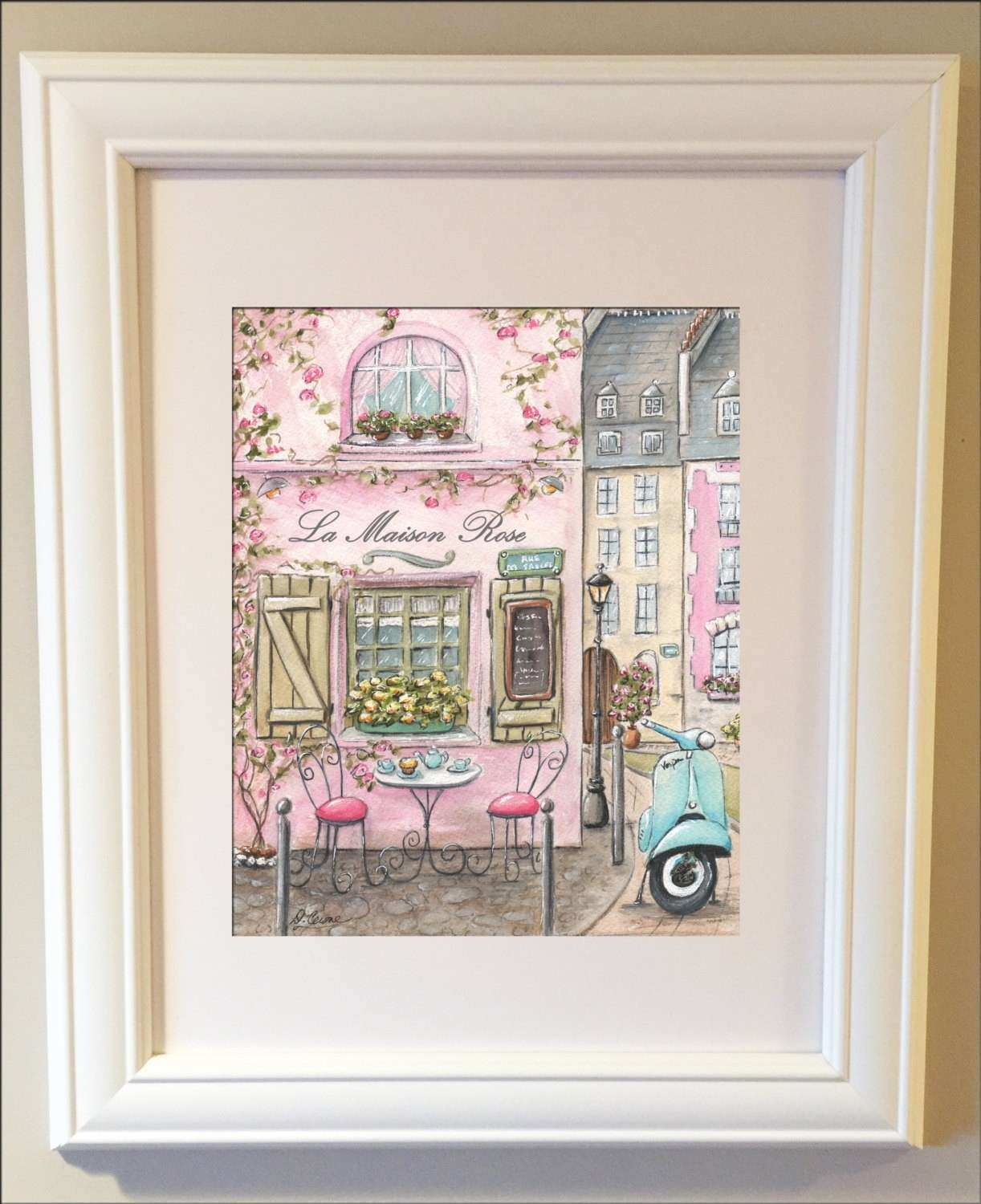 Paris Decor Cafe Wall Art La Maison Rose Personalized Baby