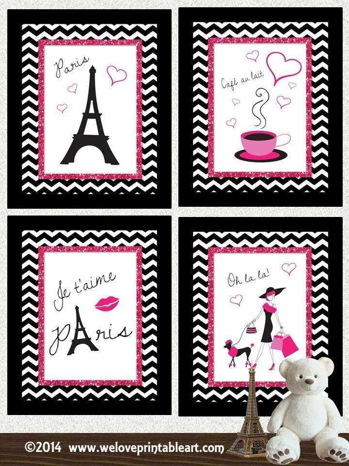 Paris Decor Print Childrens Bathroom Art Kids Bathroom