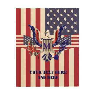 Red White Blue Patriotic Wood Wall Art
