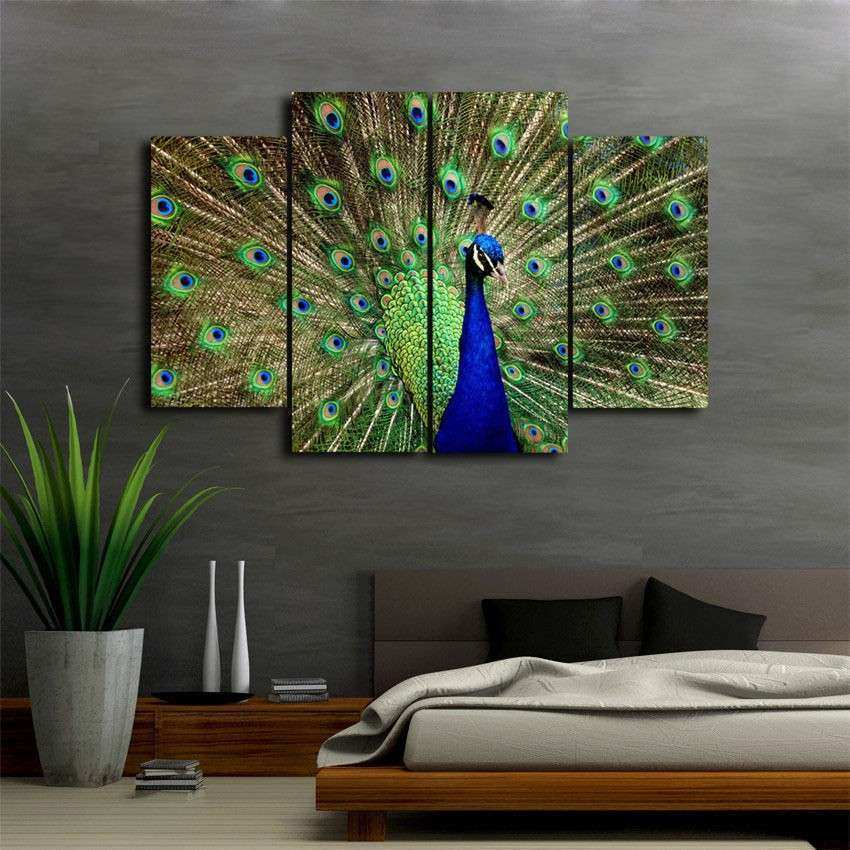 Peacock Wall Decor Lovely Home Decor Wall Painting Art Hd Print Canvas The  Beautiful