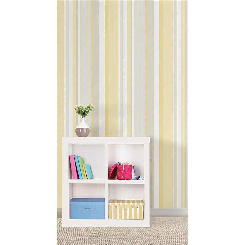 NuWallpaper Wall Pops Yellow Awning Stripe Peel and Stick