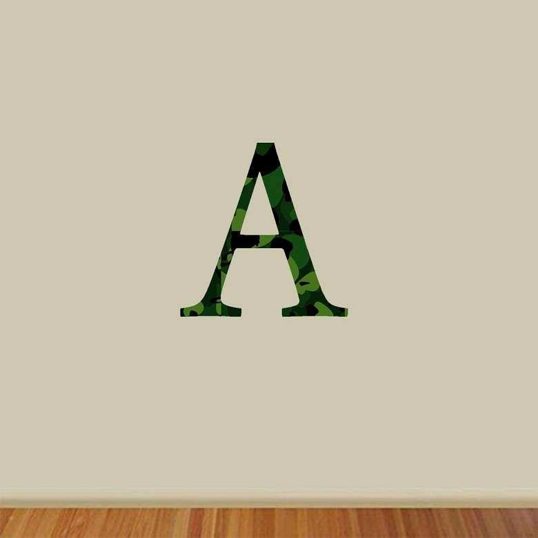 Alphabet Letters for Wall Decor Decals Camouflage Stickers