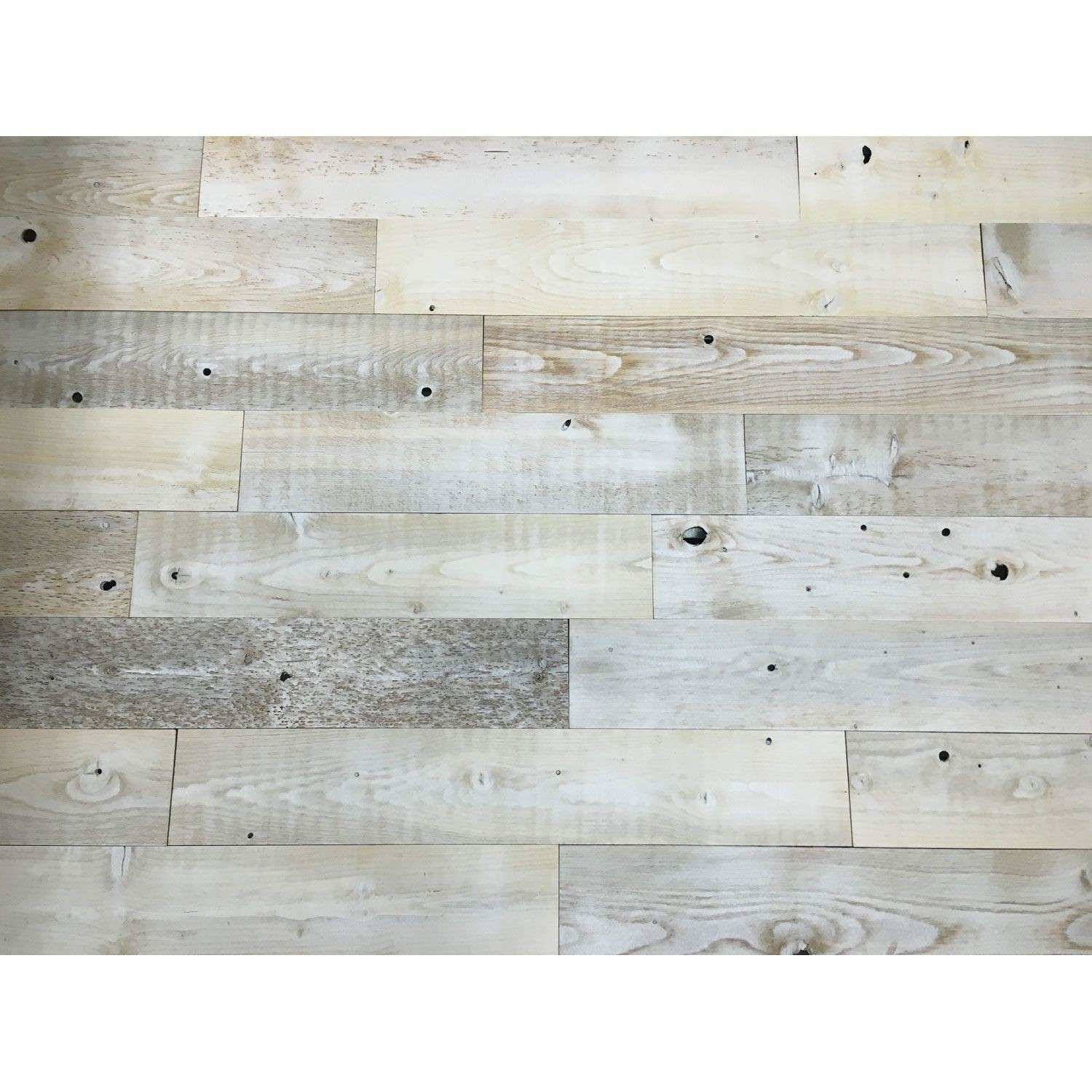Peel And Stick Reclaimed Whitewash Wood 5 Inch Planks