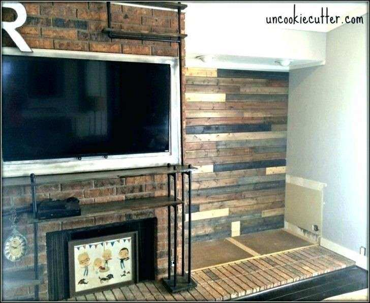 Peel Stick Wood Wall Interior Diy And Decor Finished