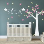 Personalised Picture Wall Stickers Awesome Nursery Tree with Name and Birds Wall Stickers by Wallboss