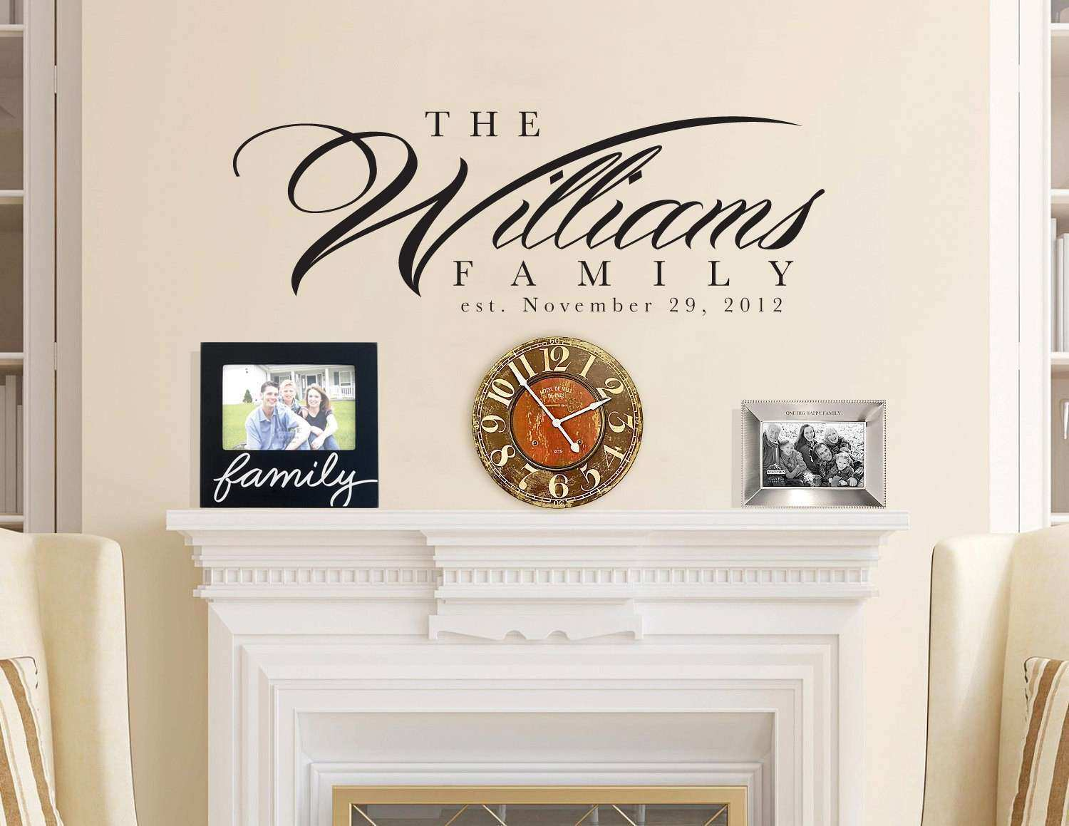 Personalised Picture Wall Stickers Best Of Items Similar to 60x22 Personalized Family Last Name Wall