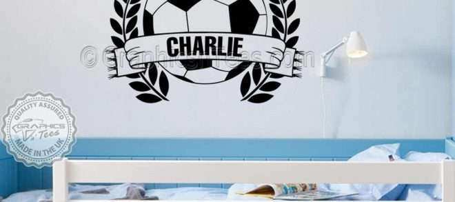 Personalised Picture Wall Stickers Lovely Personalised Football Wall Stickers Boy Girls Bedroom