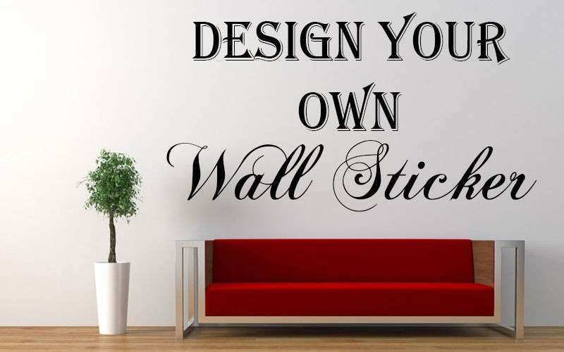 Personalised Picture Wall Stickers Unique Personalised Wall Sticker Custom Vinyl Decal Design Your