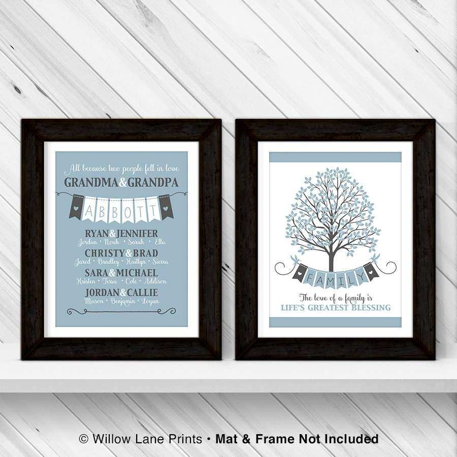 Personalized Family Tree Wall Art Unique Family Tree Wall Art Canvas Personalized by Willowlaneprints