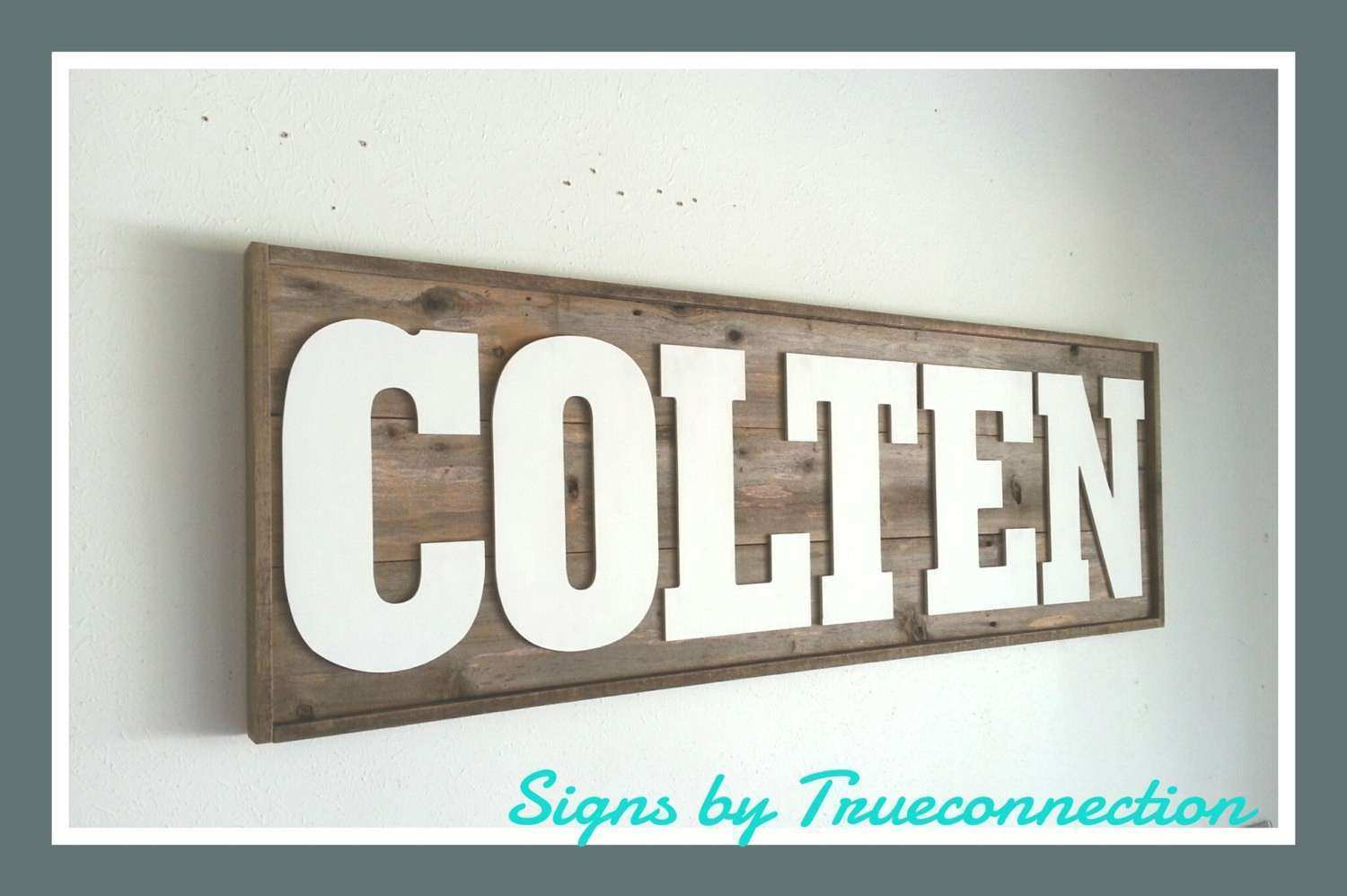 Personalized Last Name Wall Art Fresh Name Sign Framed Custom Kids Room Last  Name Wall Art