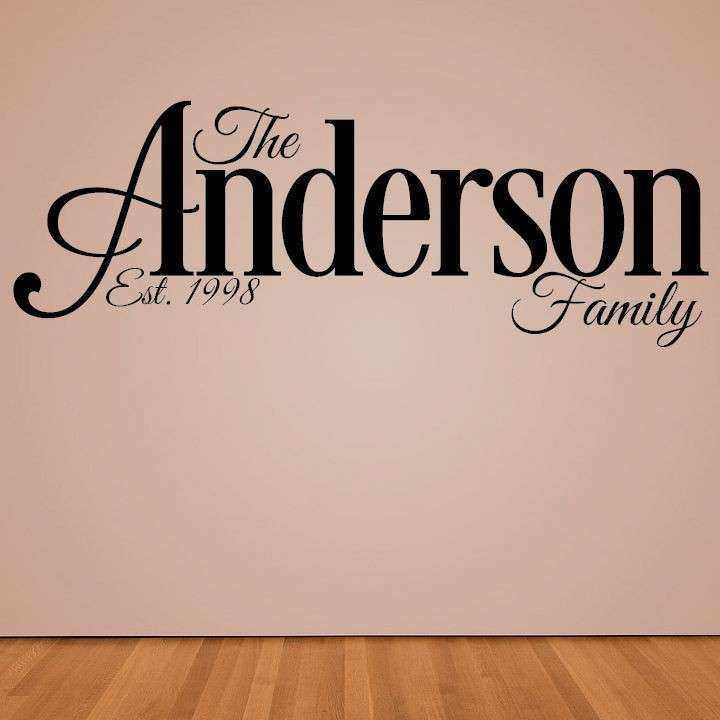 Personalized Wall Decal Custom Family Last Name Wall Art