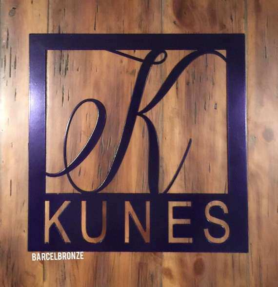 Personalized Family Name Sign Metal Wall Art Custom Name