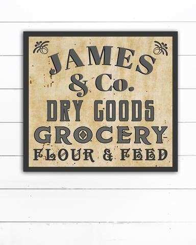 Personalized Last Name Sign Modern Farmhouse Wall Decor