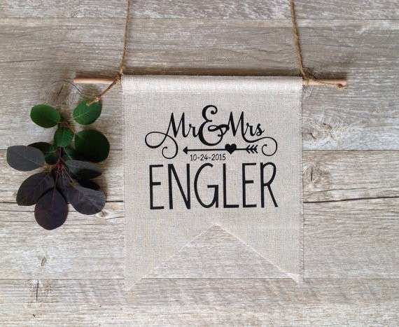 Wall Decor Wedding Gift CUSTOMIZED Last Name Personalized