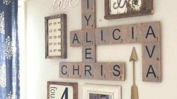 Marvelous Last Name Wall Decor Decal Initial Framed