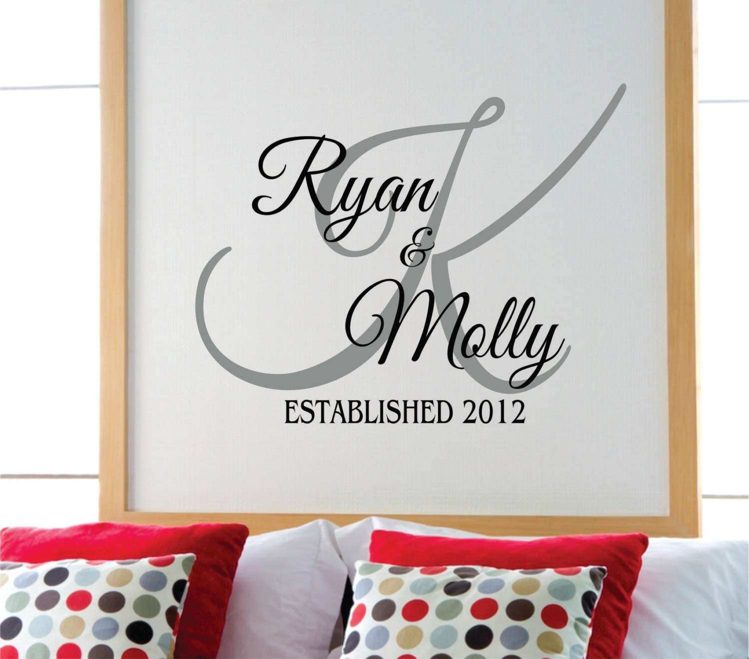 Personalized Family Name Wall Decal Name Wall Decal