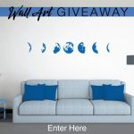 Phases Of The Moon Wall Art Awesome Phases Of The Moon Giveaway Wall Art Pany Of Phases Of The Moon Wall Art