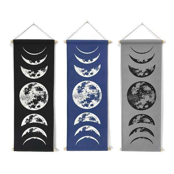 Moon Tapestry Moon Phases Wall Art Lunar Phases Wall Art