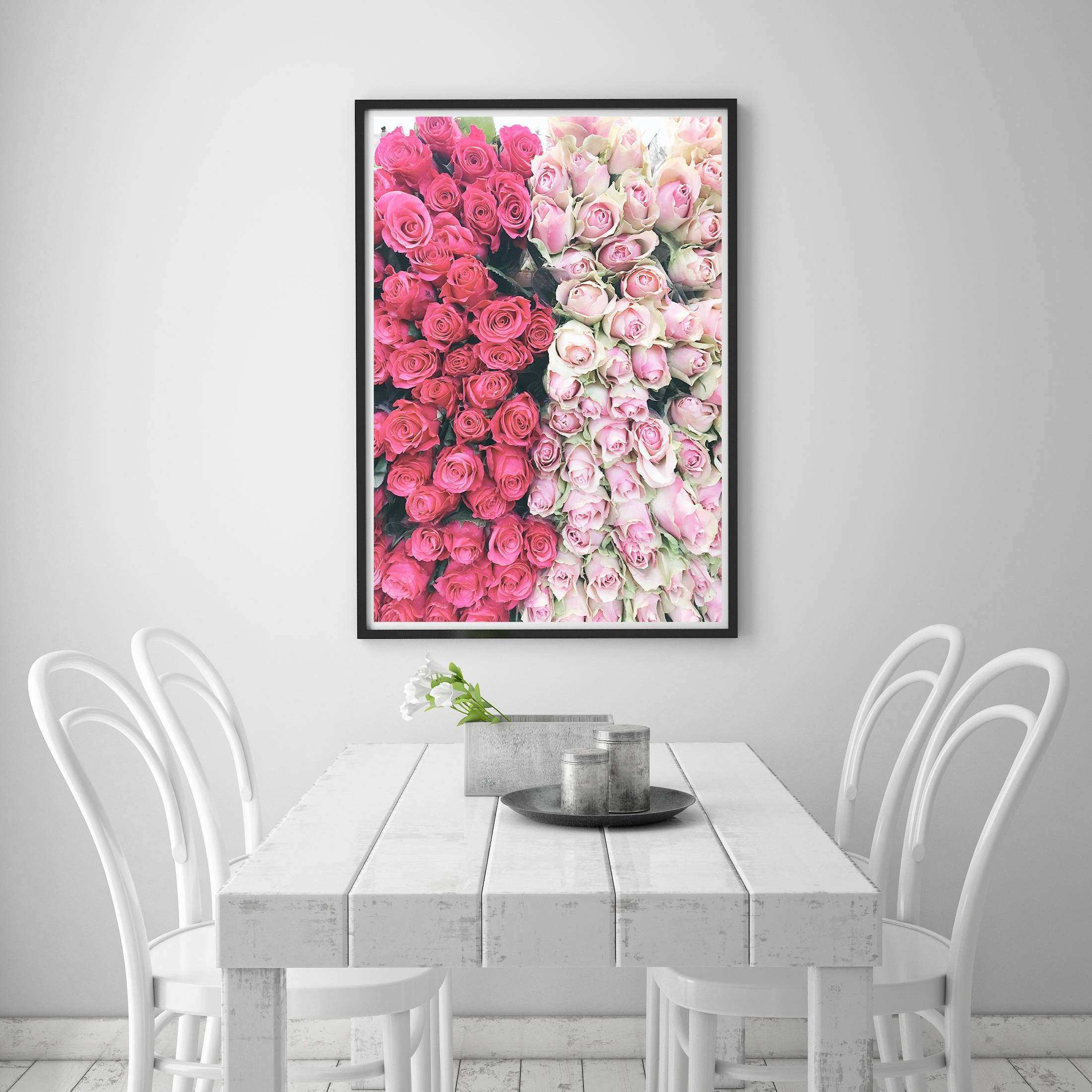 Paris Floral Print Printable Paris Art Pink Paris Print Wall Art