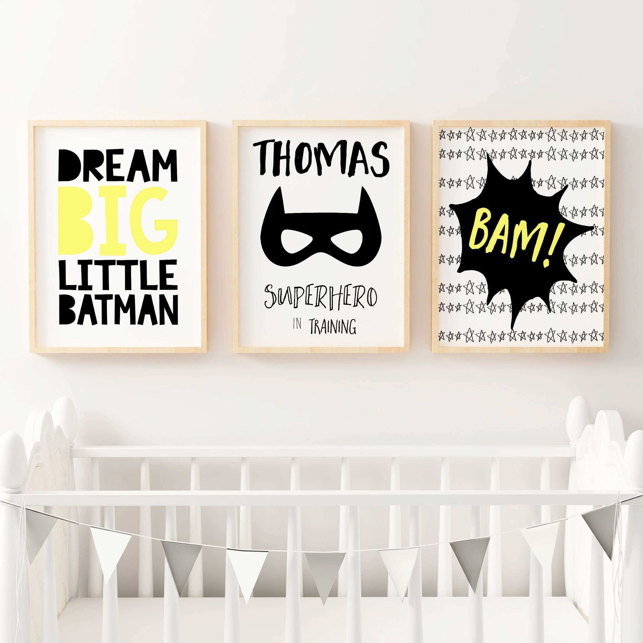 Superhero Nursery Prints Boys Bedroom Wall Art