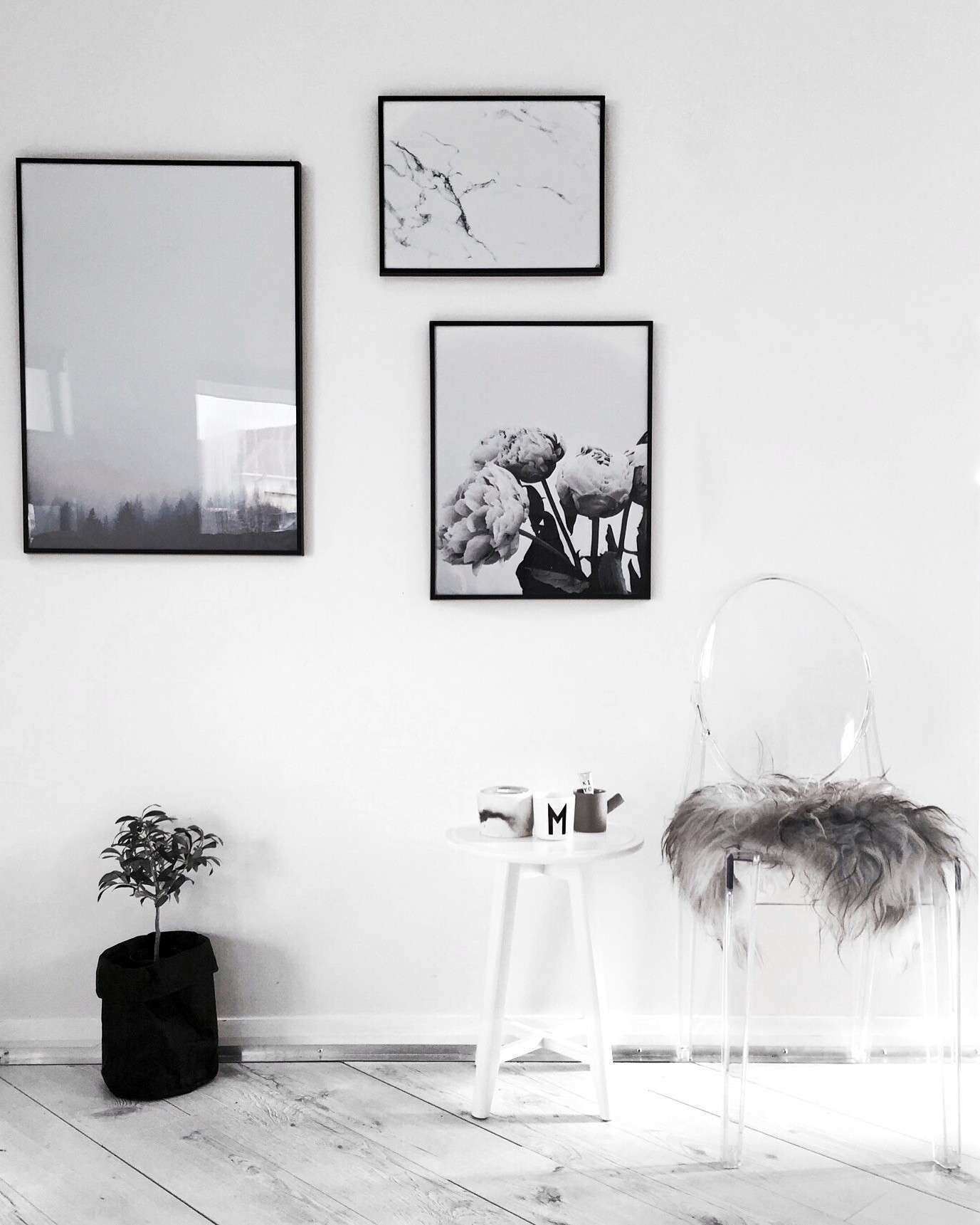 Gallery wall art by Yorkelee prints using Scandinavian style art