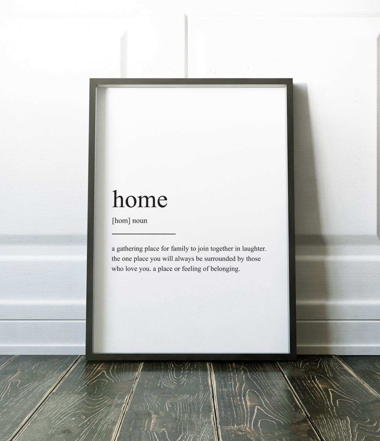 Home Definition Print Wall Art Prints Quote Print Wall Decor