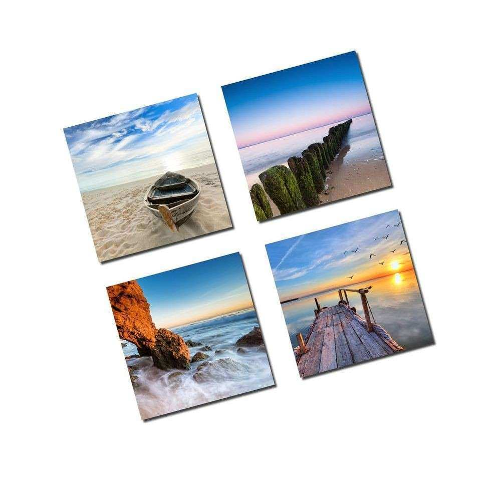 4 Panels Framed Canvas Wall Art Home Decor Picture