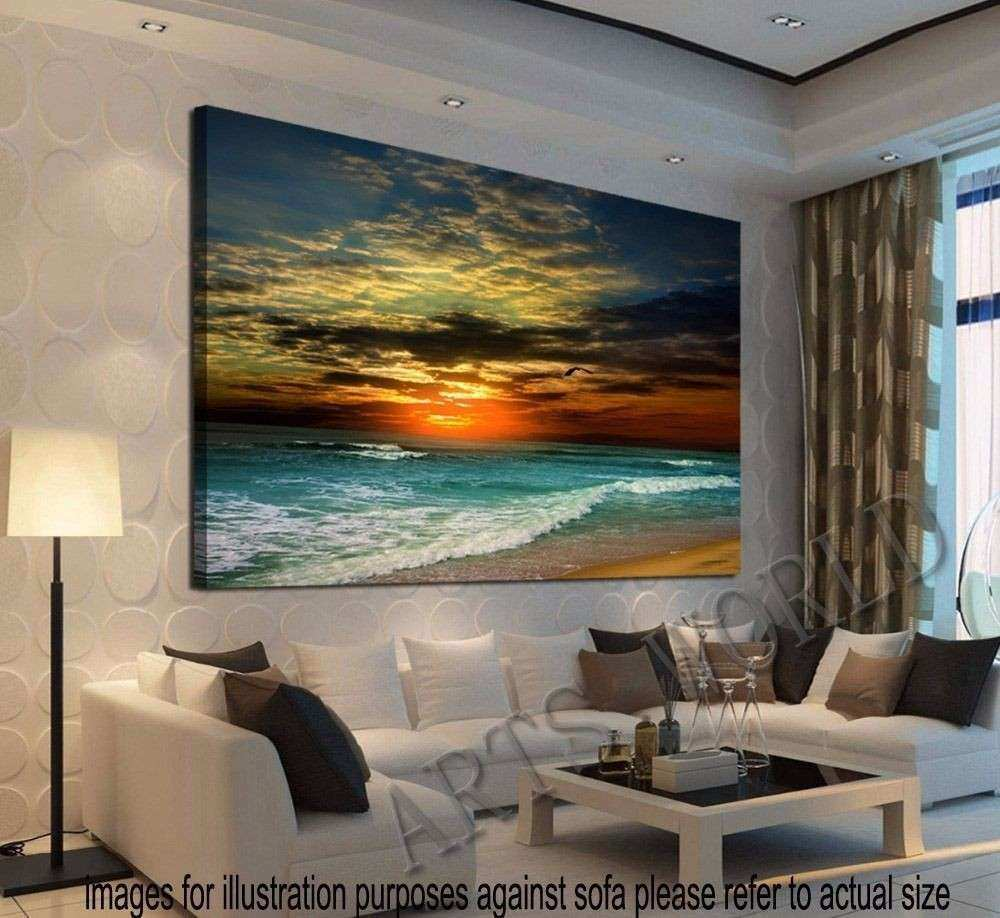 Framed Home Decor Canvas Print Modern Wall Art Seascape