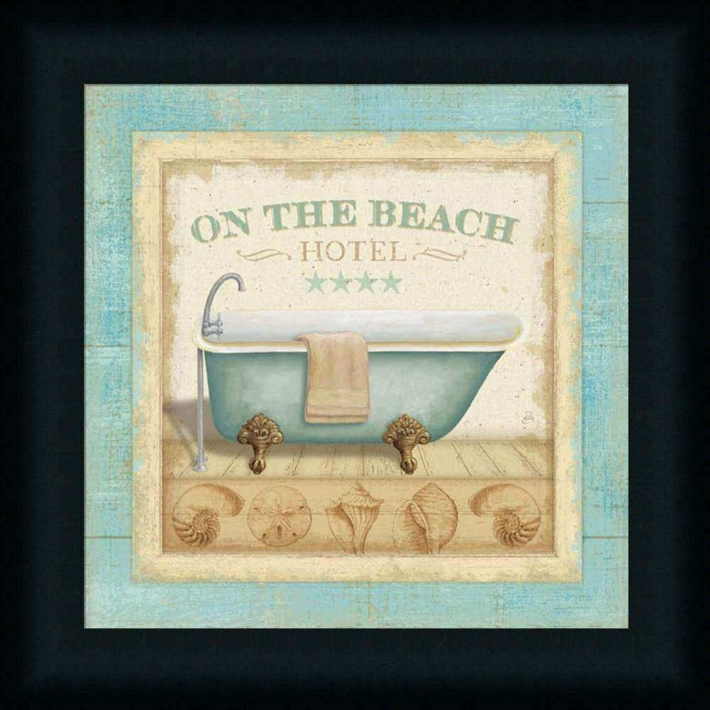 the Beach Hotel I Bathroom Spa Bath Framed Art Print