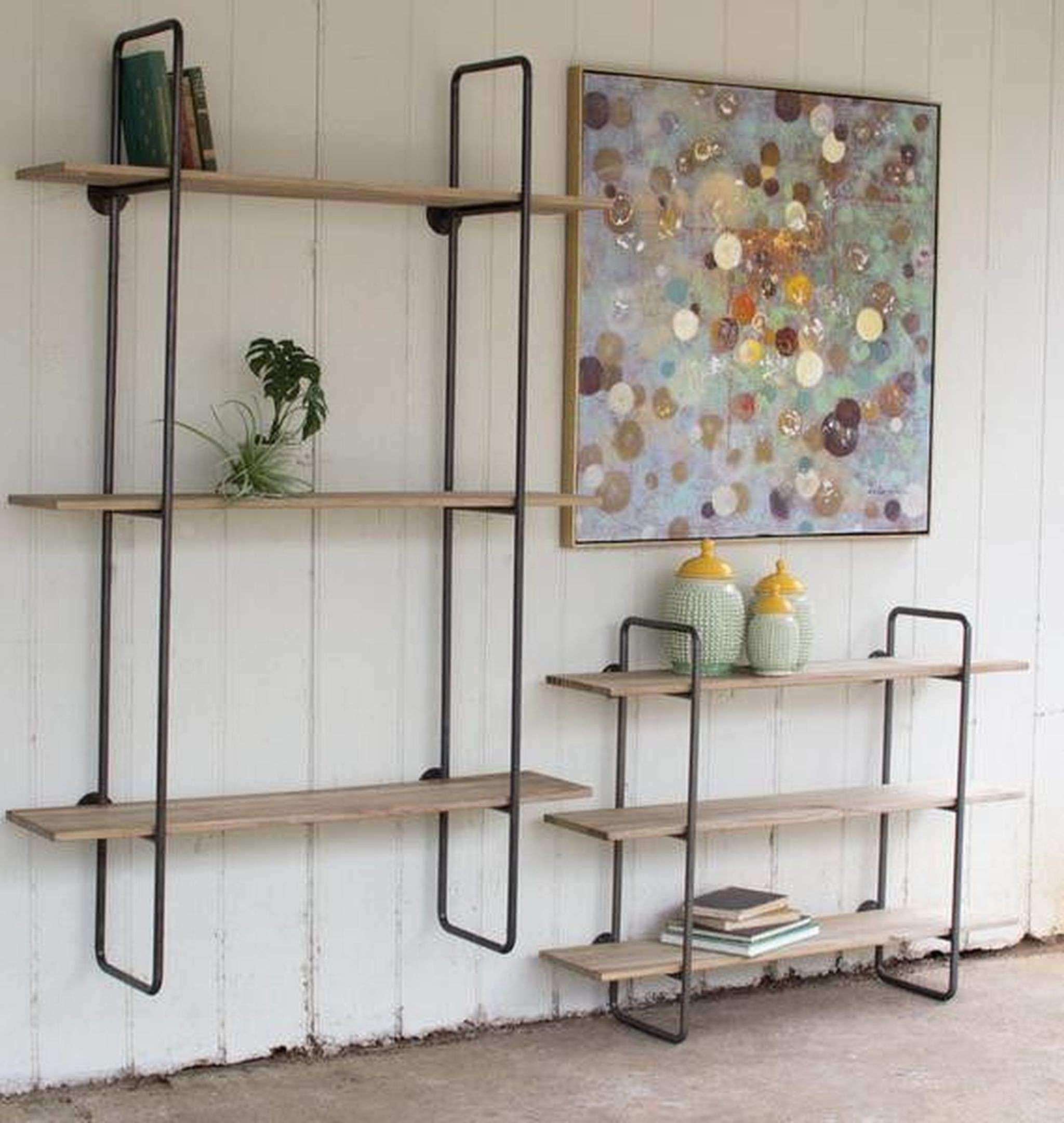 Incredible Shelves Neat Tiered Metal Tube Frame Wall Shelf With