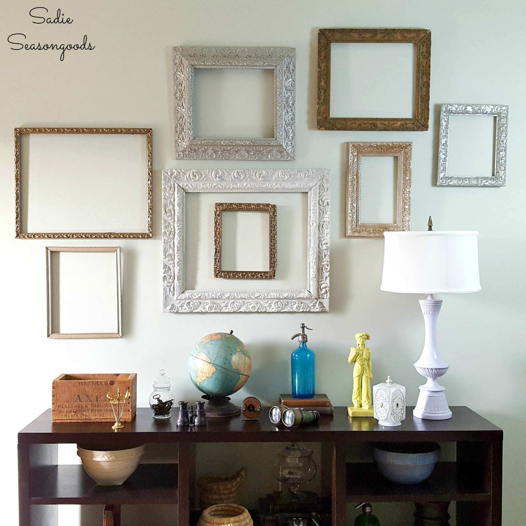 Picture Groupings On A Wall Best Of Diy Wall Gallery with Vintage ...