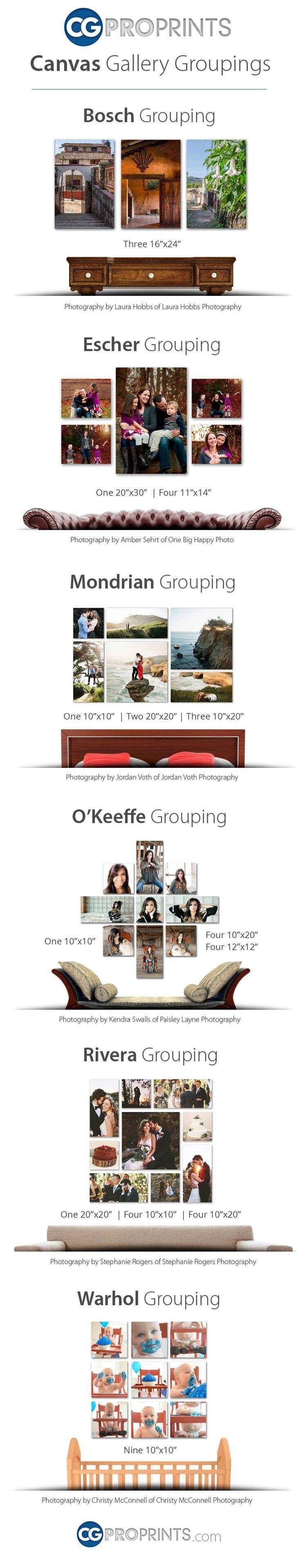 61 best Canvas Groupings images on Pinterest