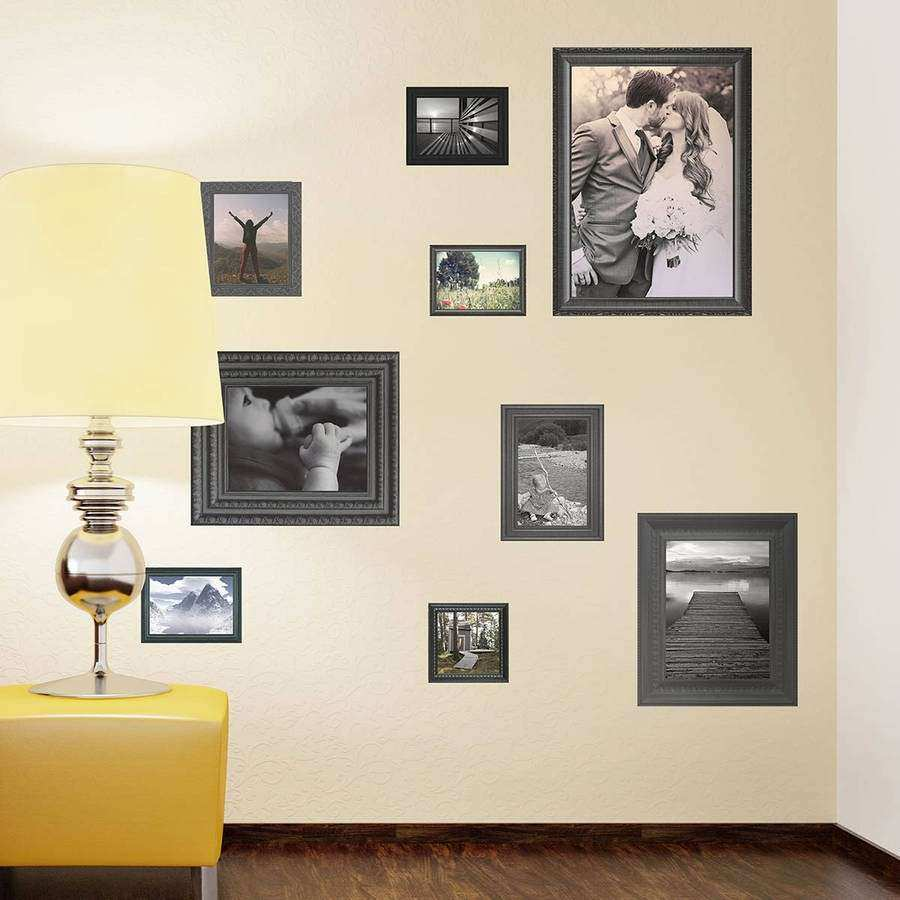 Picture Wall No Frames Elegant Black Photo Frames Wall Stickers by ...