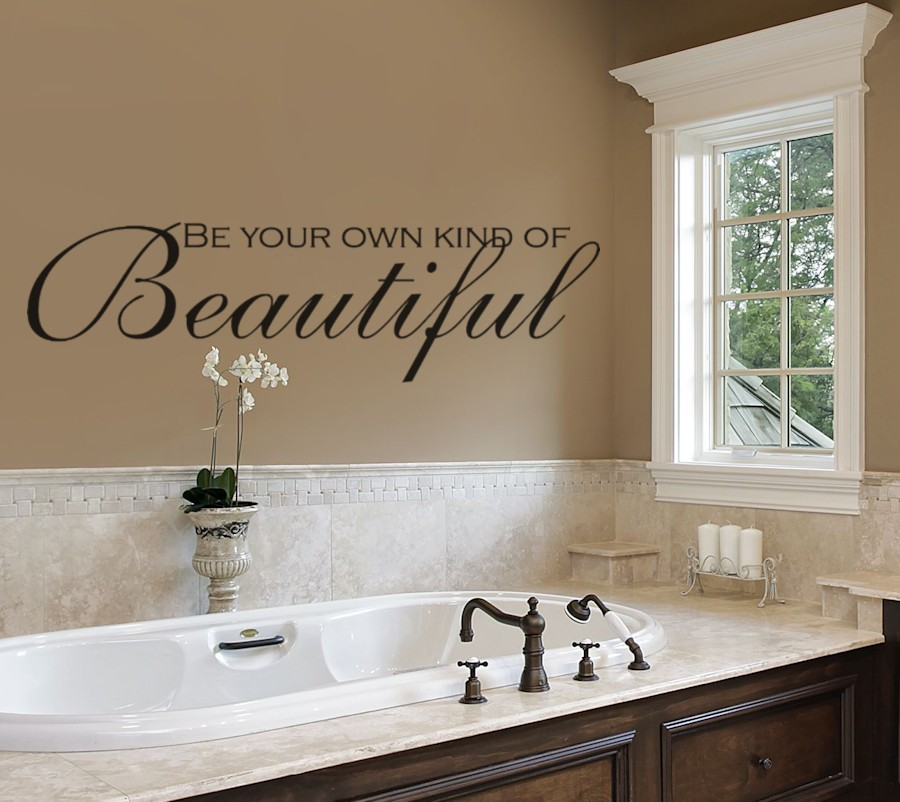 Be Your Own Kind of Beautiful Wall Decals Bathroom
