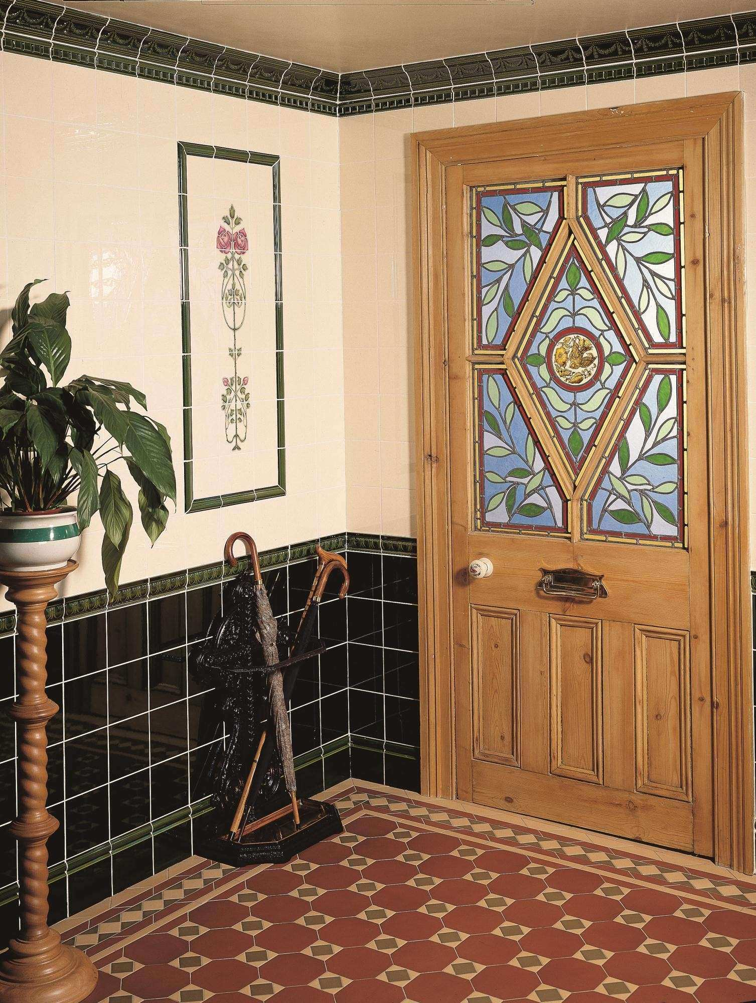 Pictures for Hallway Walls Fresh Victorian Green Skirting Tile