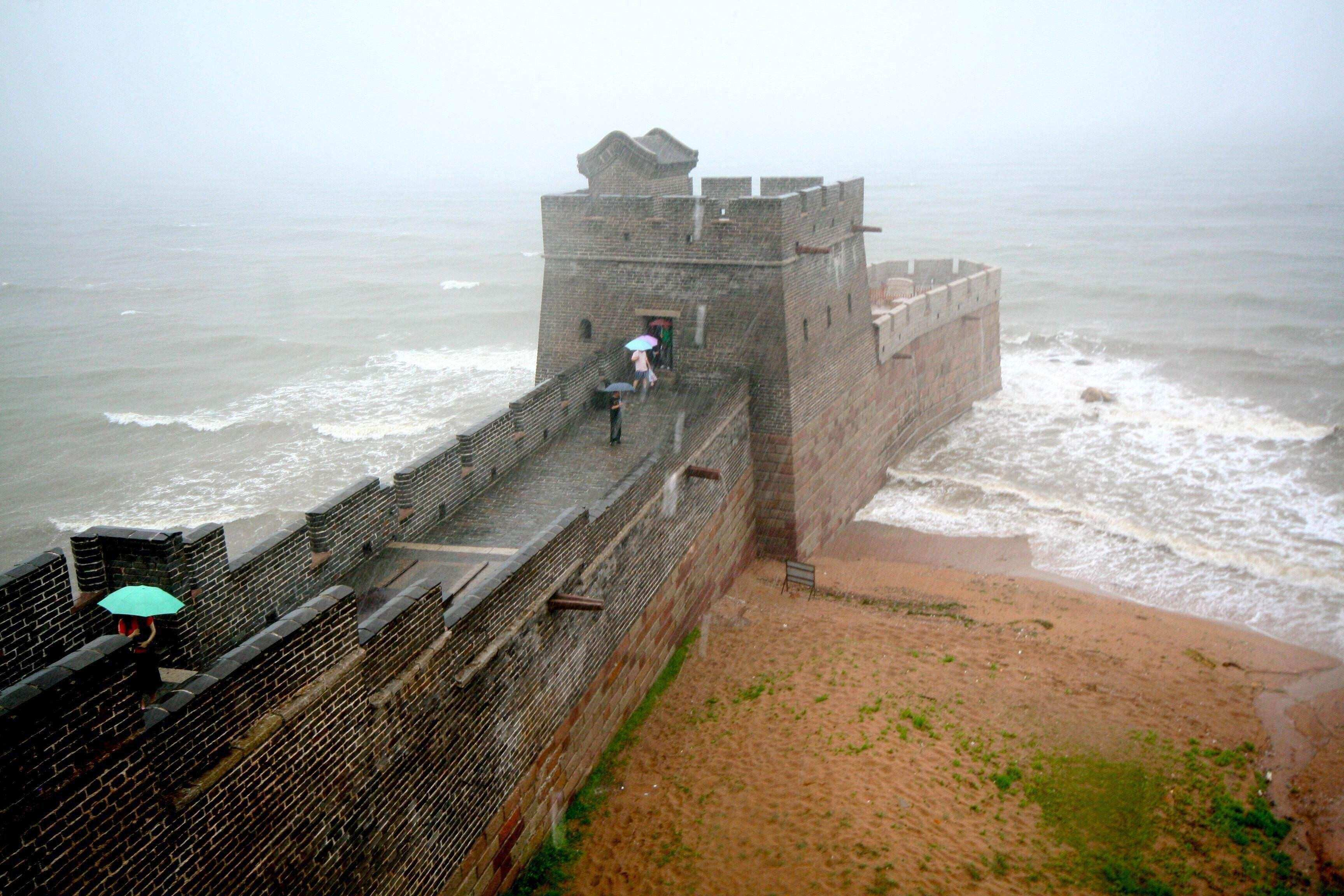 The end of the Great Wall China interestingasfuck