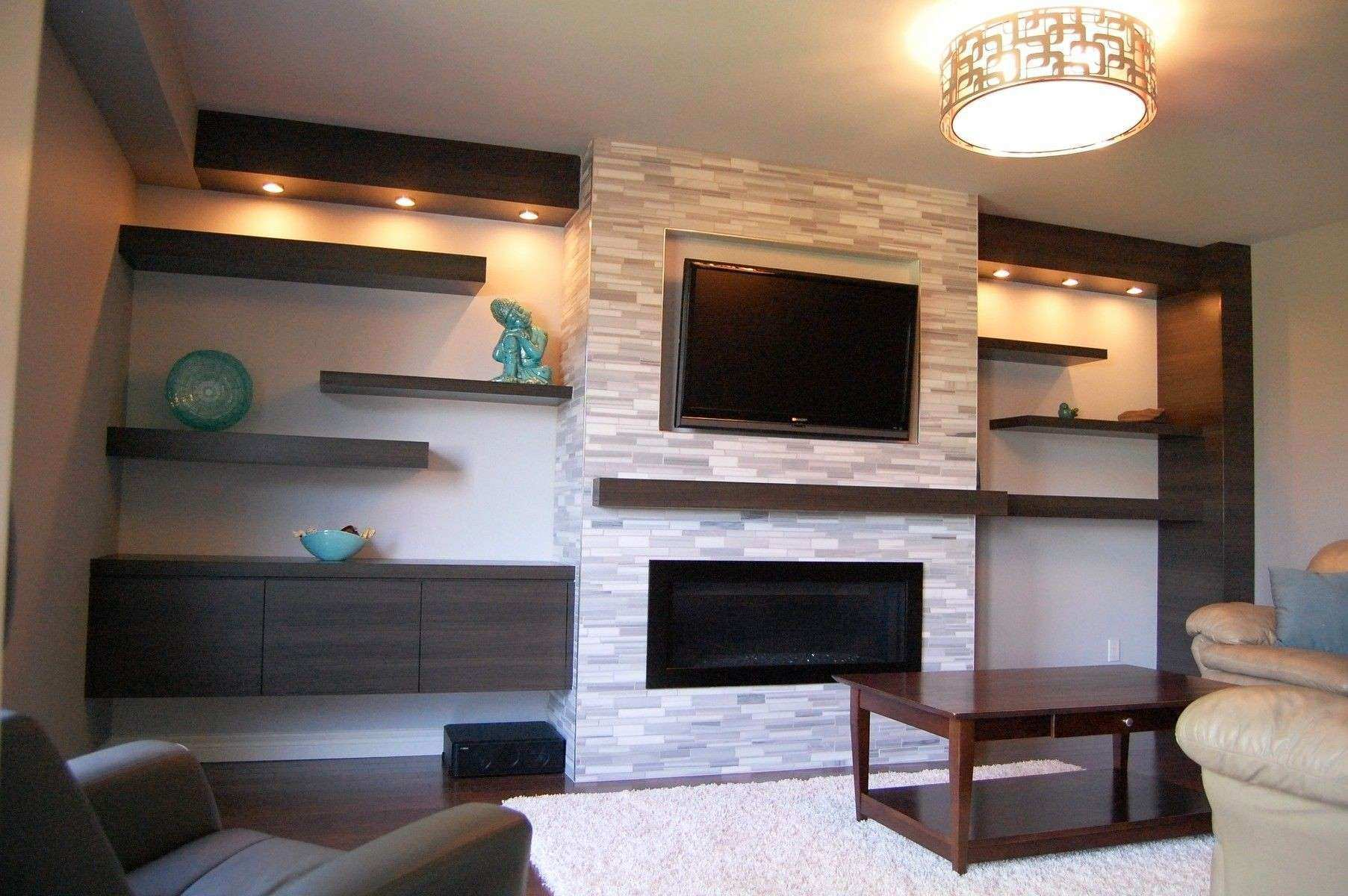 Remarkable Decor Ideas Natural Stone Fireplace With Mounting Tv