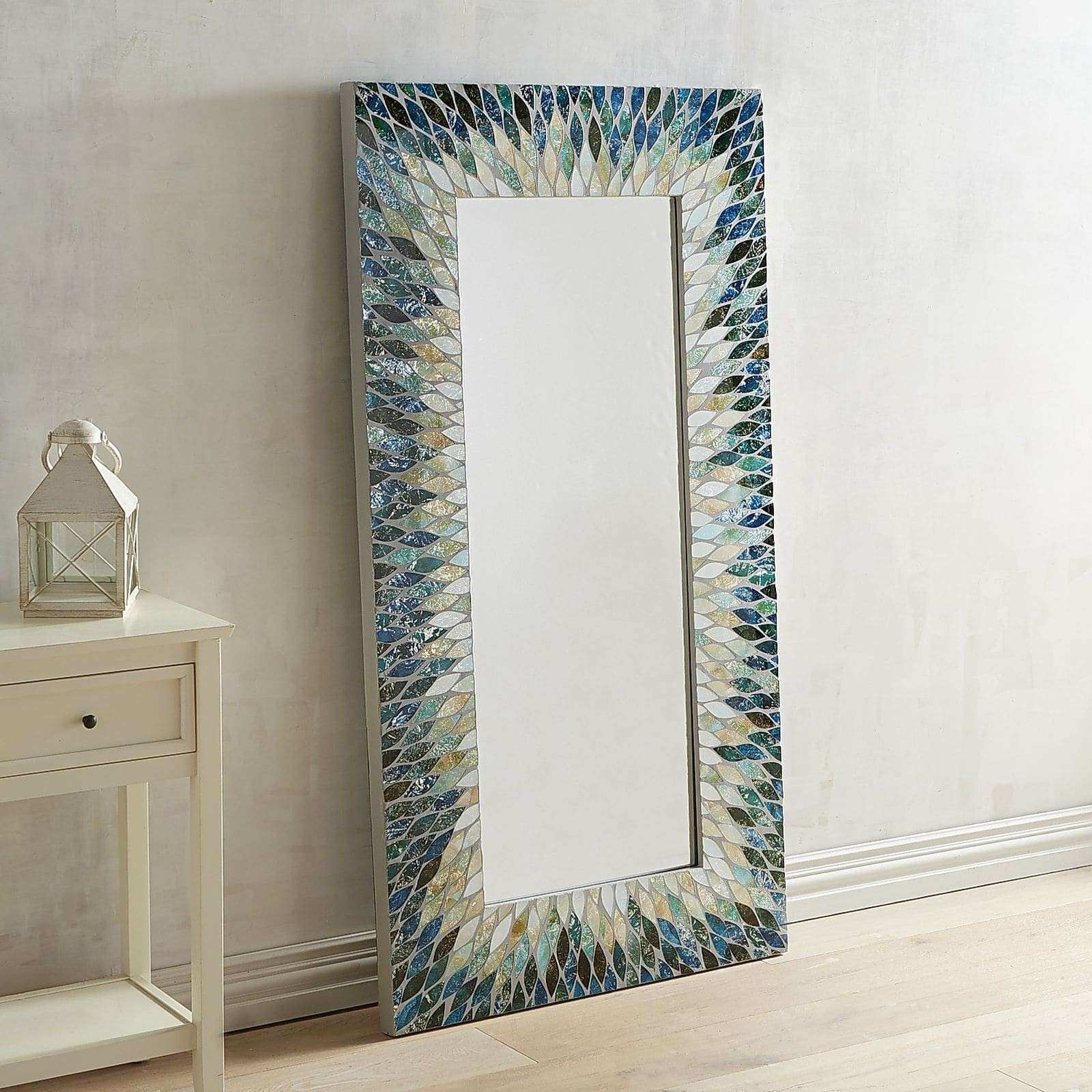 Pier One Mirrors and Wall Decor Unique Cascade Mosaic Floor Mirror ...