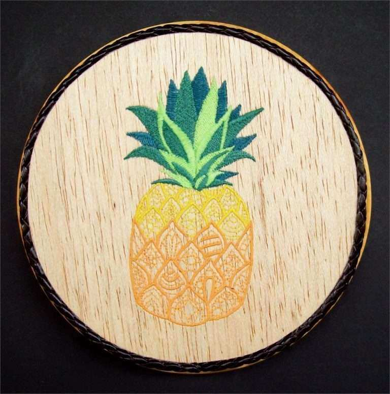 Pineapple Wall Art Wood Inspirational Pineapple Embroidery Wood Art ...