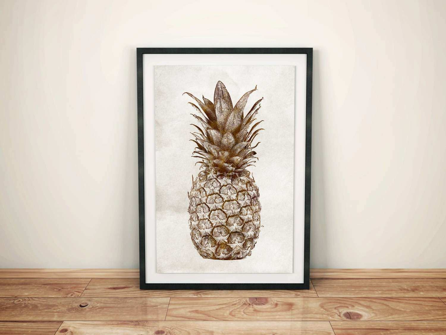 Pineapple Wall Decor Awesome Pineapple Wall Art Pineapple Print