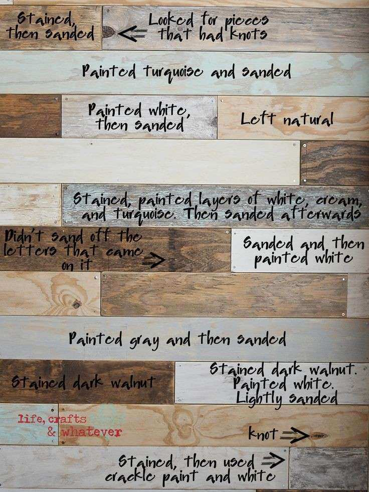 Life Crafts & Whatever My plank wall finally a clear