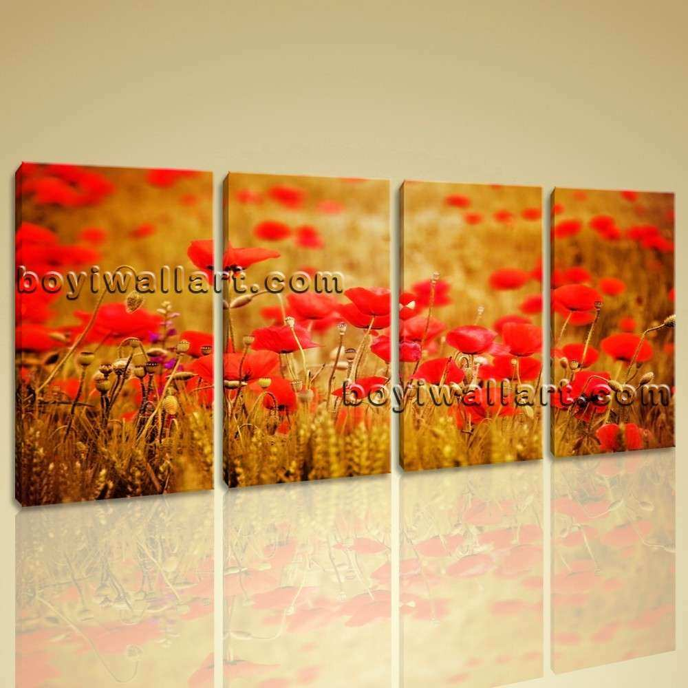Poppy Prints Wall Art New Wheat Field with Poppies Floral ...