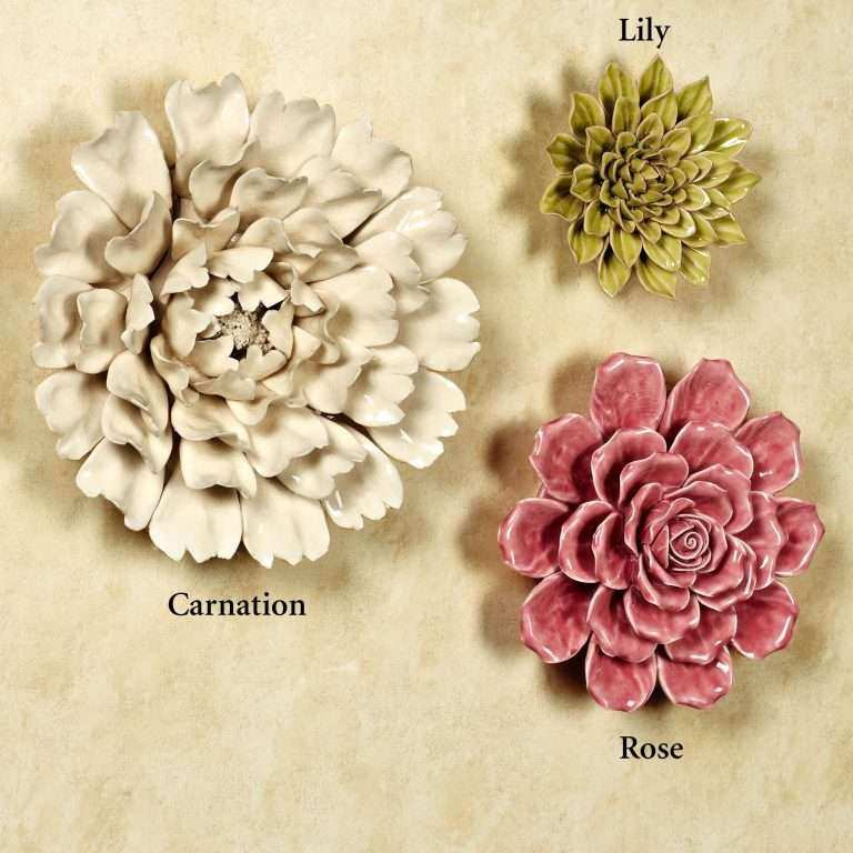 Porcelain Flower Wall Decor New isabella Ceramic Flower Blossom Wall ...