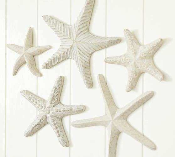 Carved Wood Starfish Set