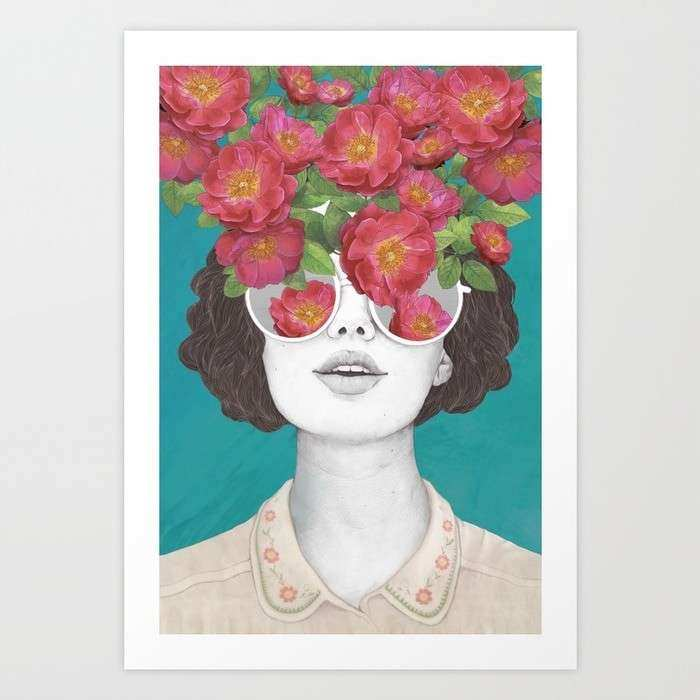 The optimist rose tinted glasses Art Print by