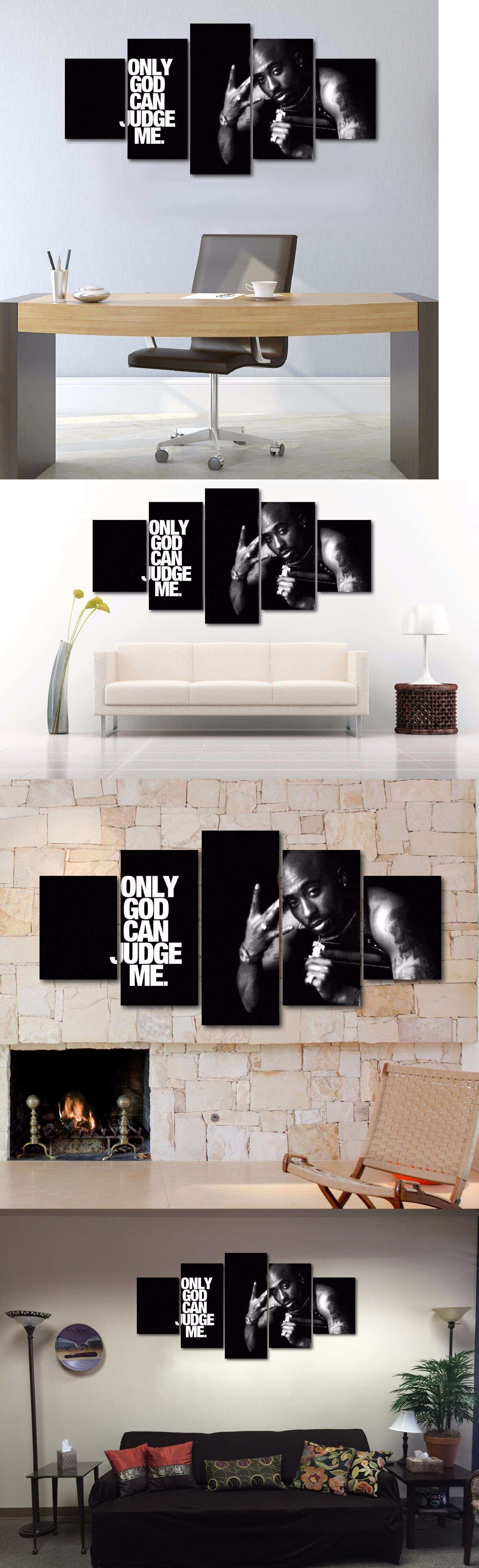 Posters and Prints Size Five Piece Tupac Canvas Print