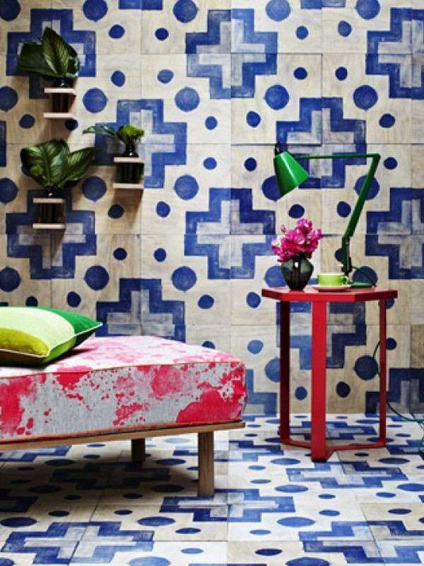 Screen printed timber wall tiles no grout required